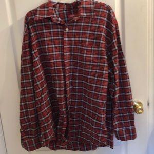 💚IZOD Plaid Button-Down Shirt
